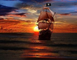 Indaris_Pirate-ship-and-sunset
